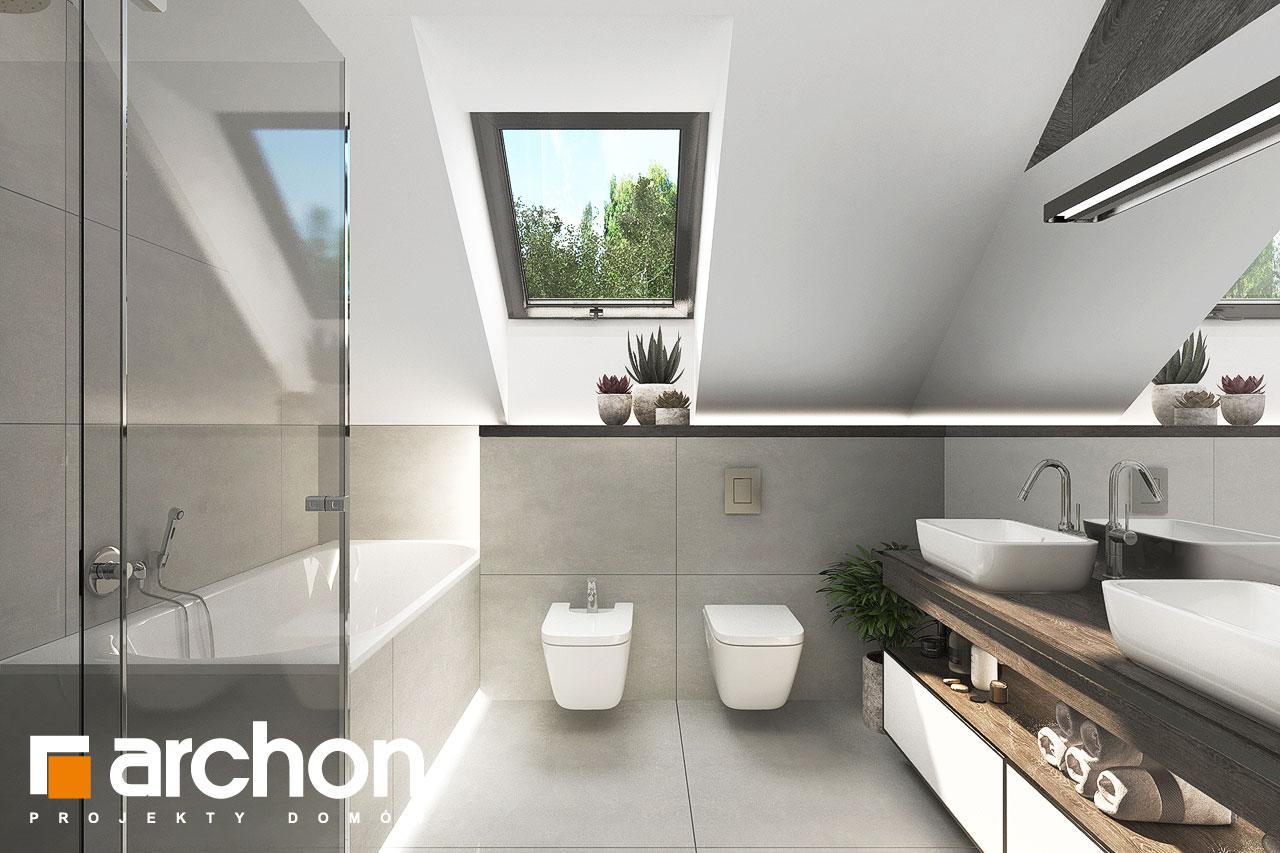 Проект будинку ARCHON+ Будинок в альбіціях 2 (Г2) візуалізація ванни (візуалізація 3 від 2)