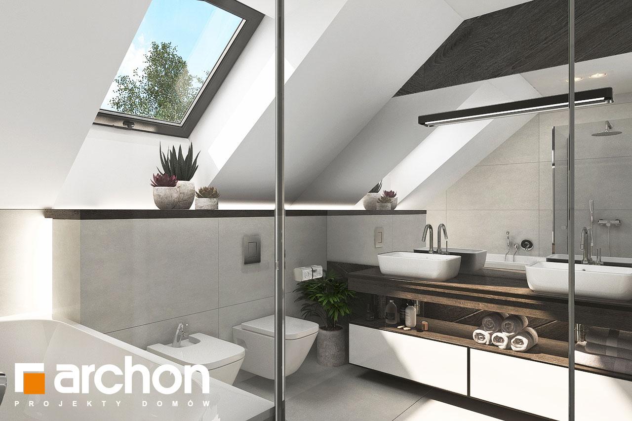 Проект будинку ARCHON+ Будинок в альбіціях 2 (Г2) візуалізація ванни (візуалізація 3 від 3)