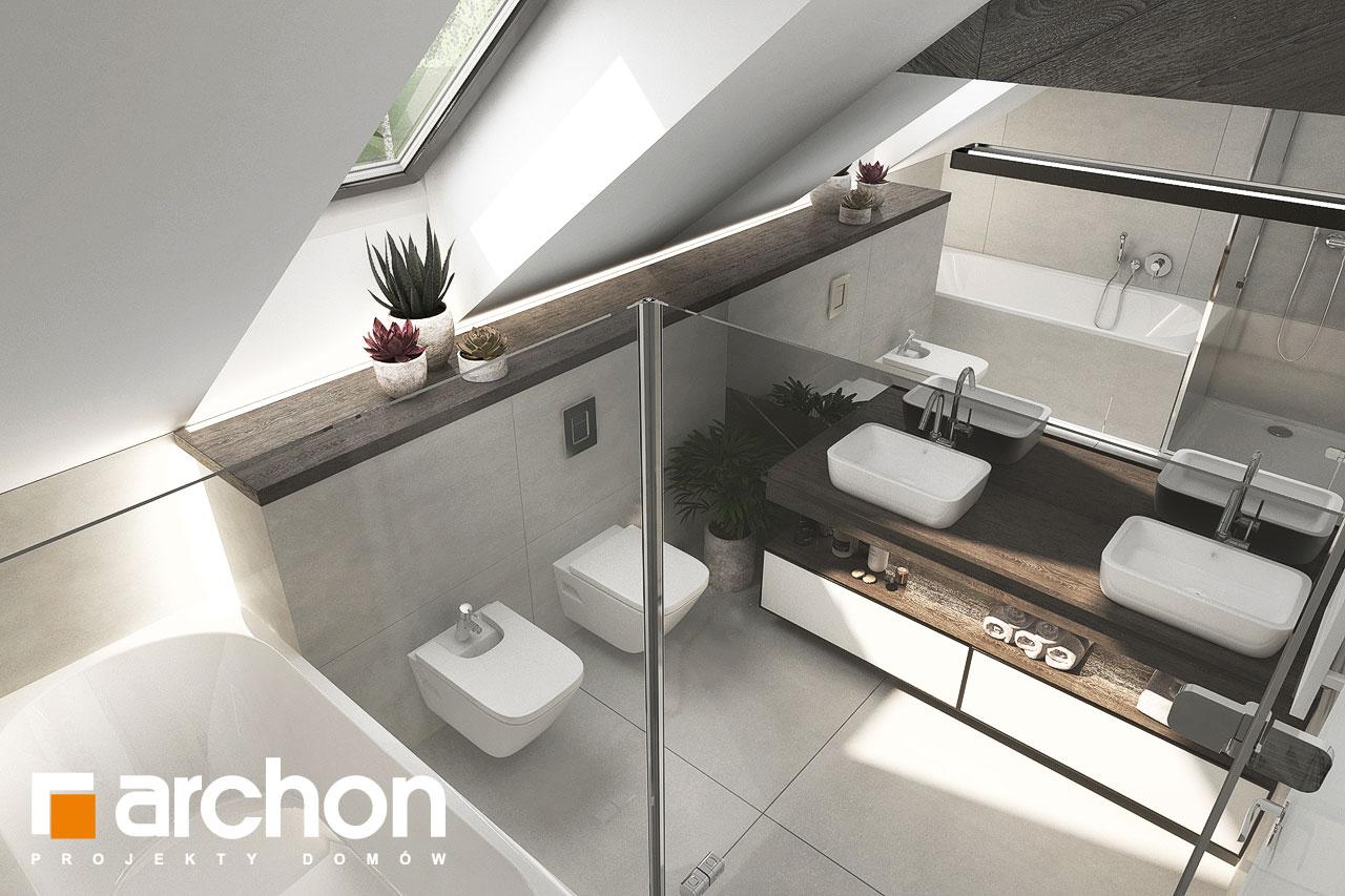 Проект будинку ARCHON+ Будинок в альбіціях 2 (Г2) візуалізація ванни (візуалізація 3 від 4)