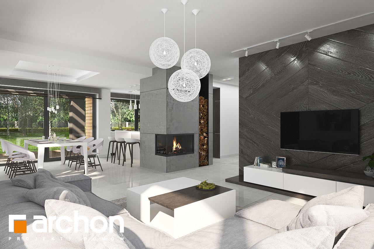Проект будинку ARCHON+ Будинок в альбіціях 2 (Г2) денна зона (візуалізація 1 від 1)
