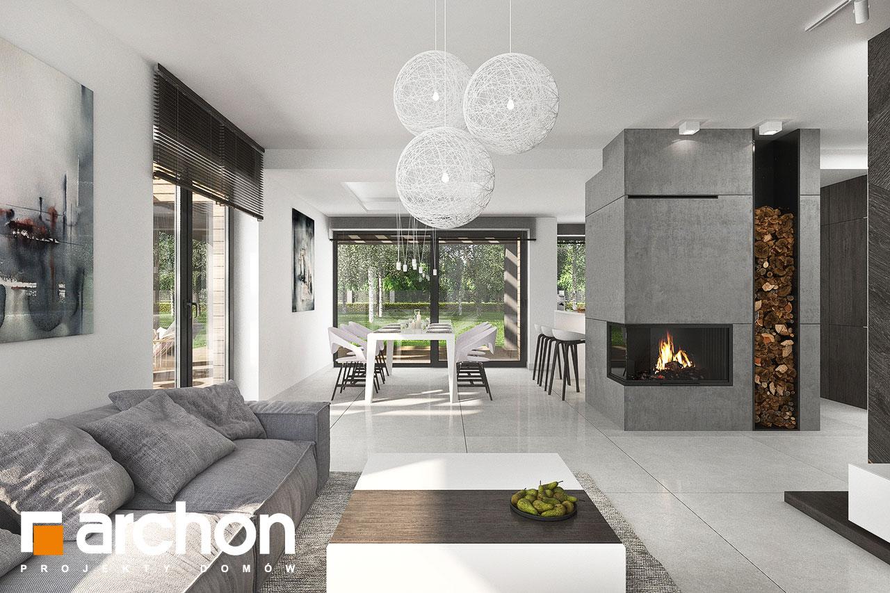 Проект будинку ARCHON+ Будинок в альбіціях 2 (Г2) денна зона (візуалізація 1 від 2)