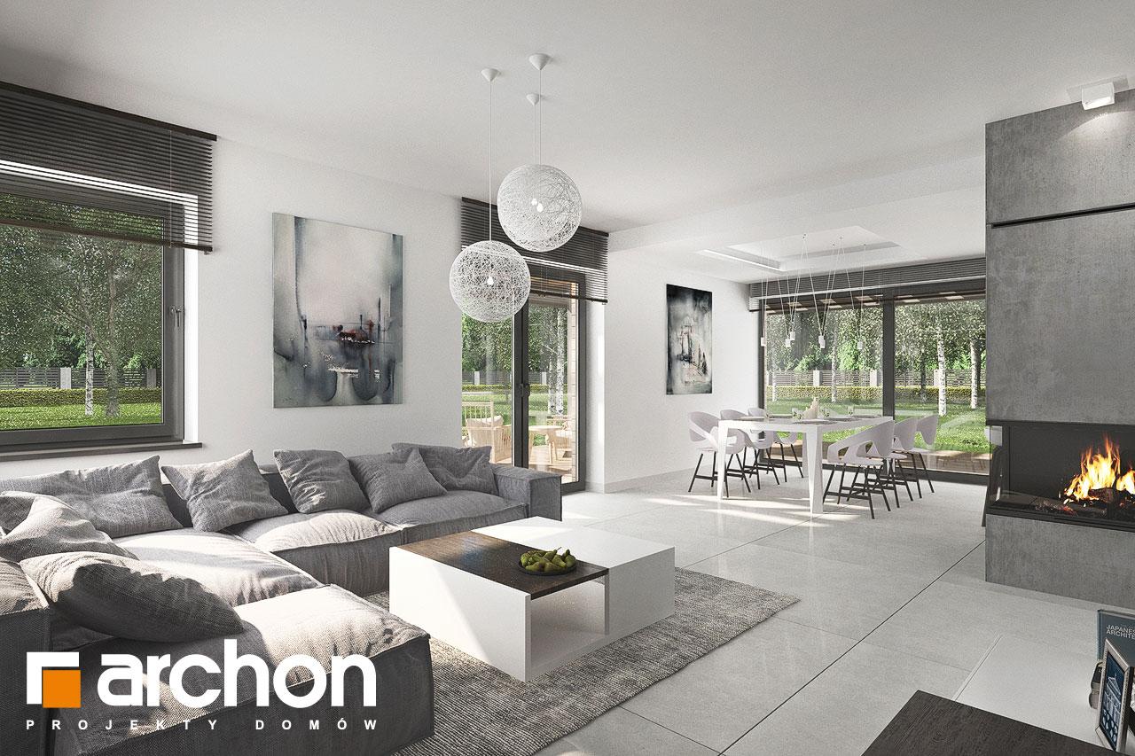 Проект будинку ARCHON+ Будинок в альбіціях 2 (Г2) денна зона (візуалізація 1 від 3)