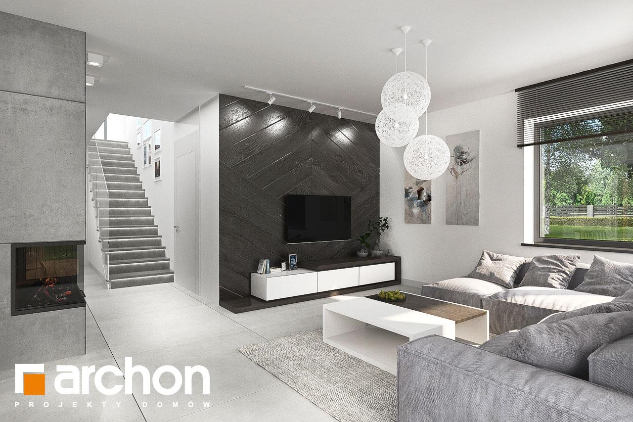 Проект будинку ARCHON+ Будинок в альбіціях 2 (Г2) денна зона (візуалізація 1 від 4)