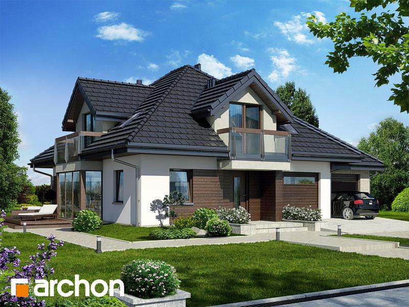 Проект будинку ARCHON+ Будинок в тим'яну 2 стилізація 3