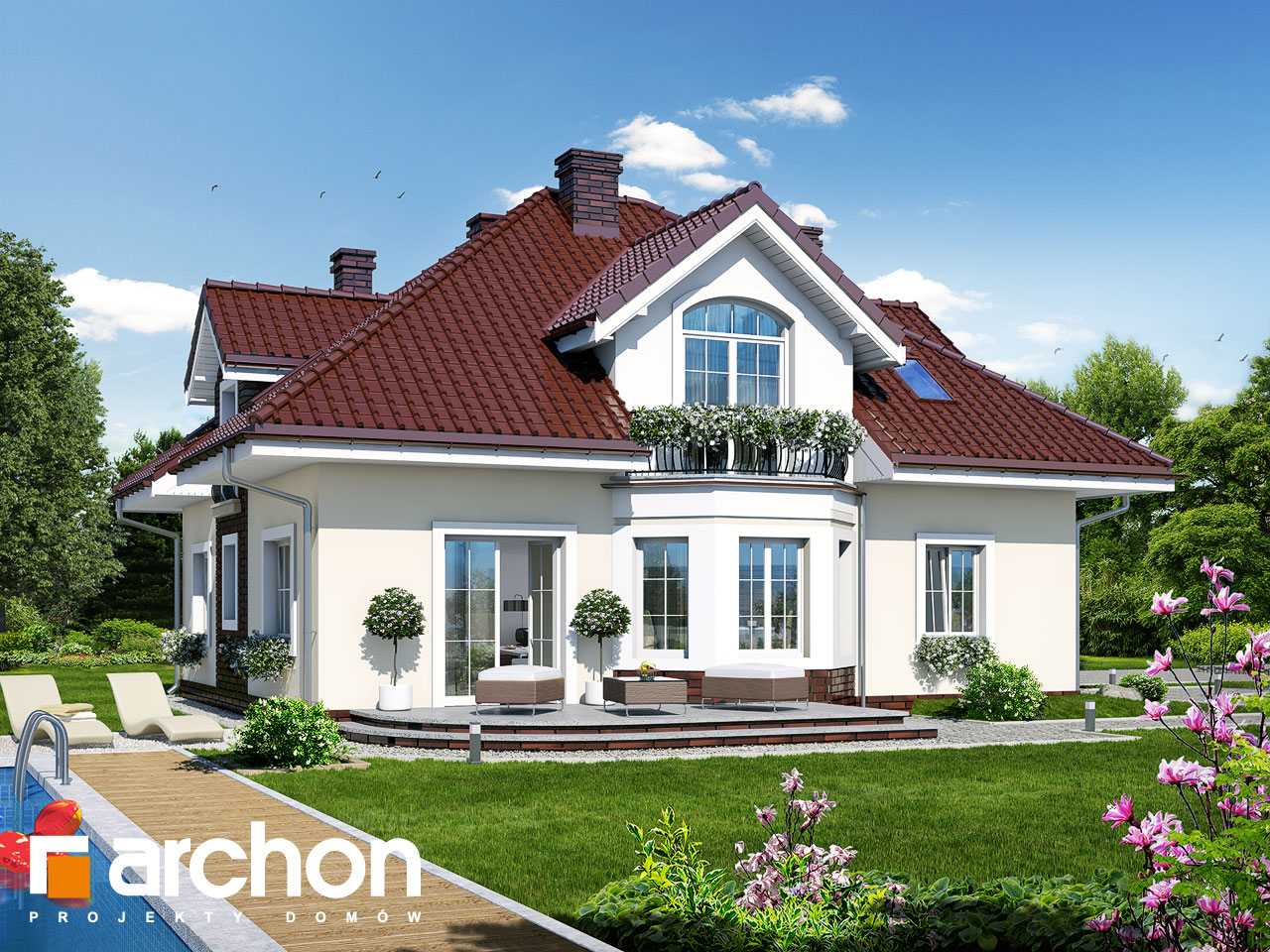 Проект будинку ARCHON+ Будинок в тим'яну 2 Вид 2