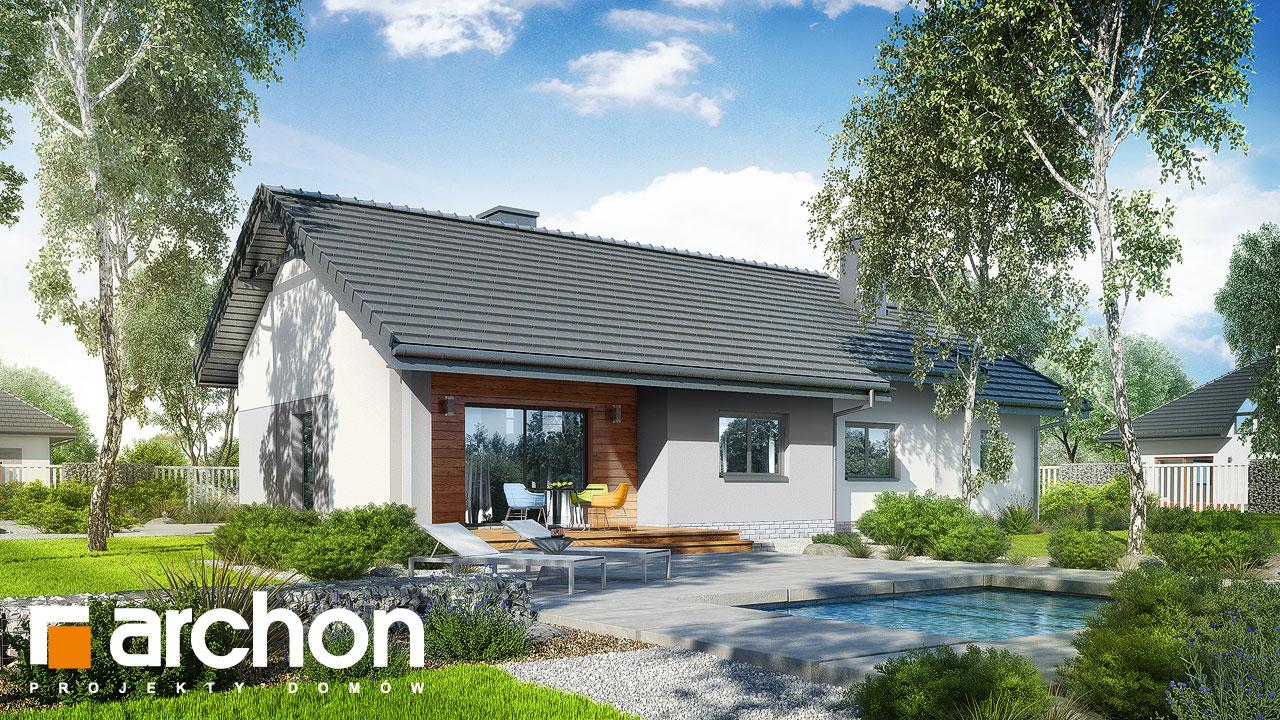 Проект будинку ARCHON+ Будинок у вівсянниці (Г) Вид 2