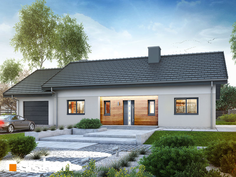 Проект будинку ARCHON+ Будинок у вівсянниці (Г) Вид 1
