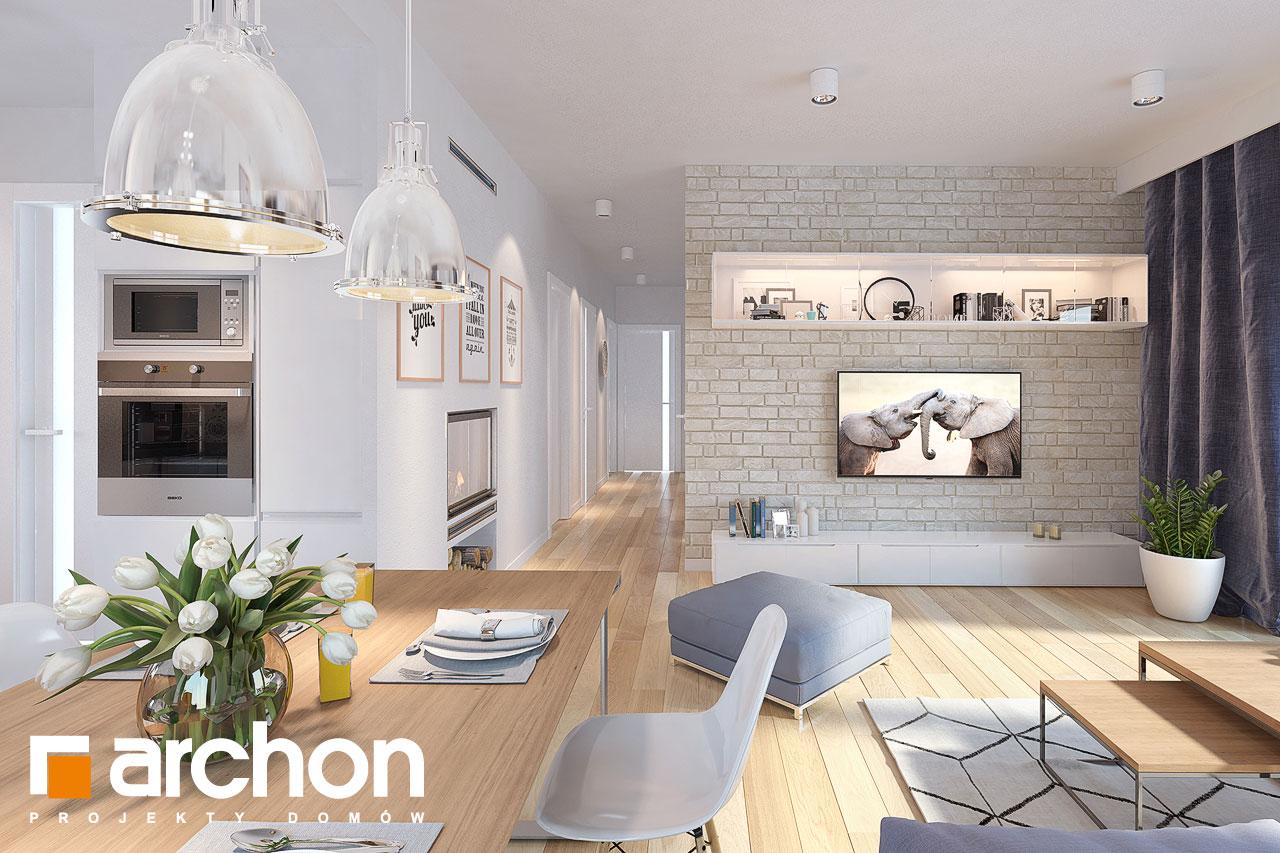 Проект будинку ARCHON+ Будинок у вівсянниці (Г) денна зона (візуалізація 1 від 3)