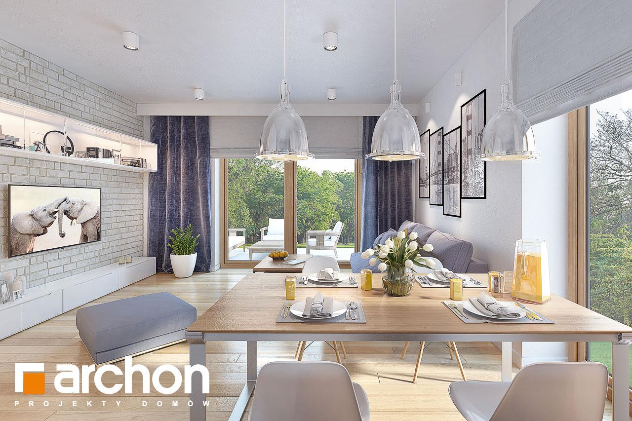 Проект будинку ARCHON+ Будинок у вівсянниці (Г) денна зона (візуалізація 1 від 5)