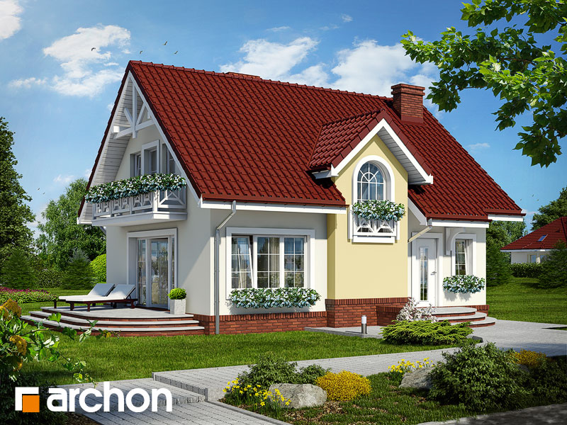 Проект будинку ARCHON+ Будинок в солодках Вид 1