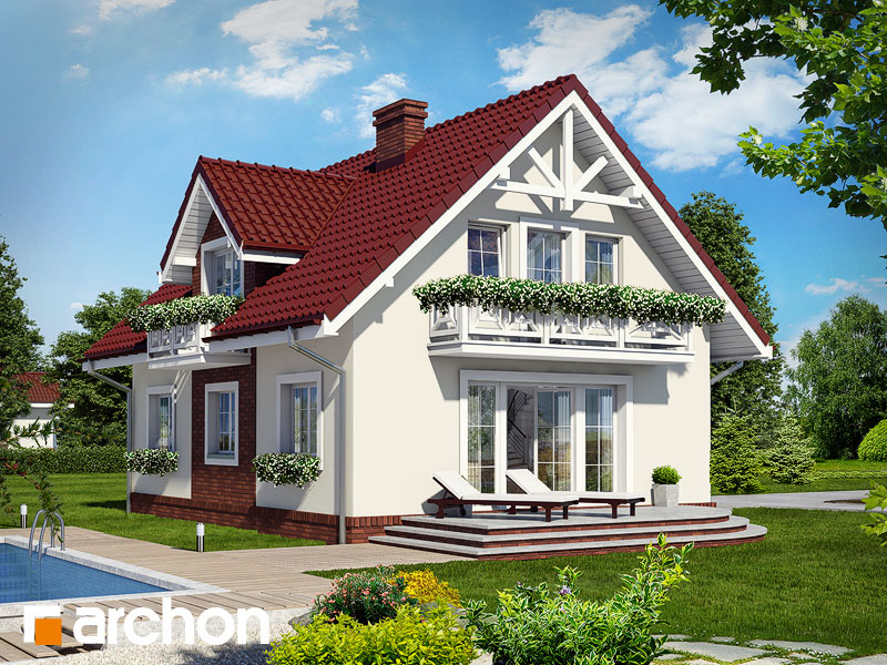 Проект будинку ARCHON+ Будинок в солодках Вид 2