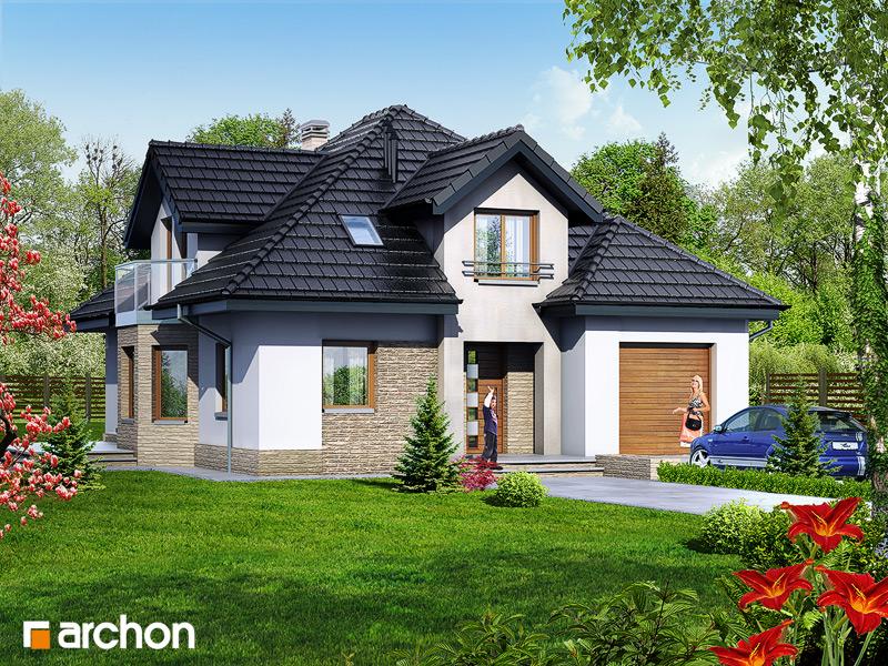 Проект будинку ARCHON+ Будинок в зірках стилізація 3