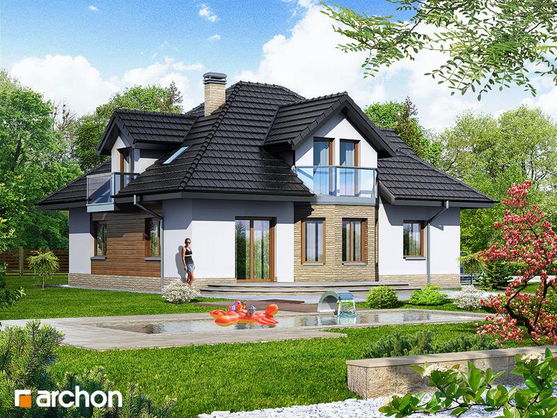 Проект будинку ARCHON+ Будинок в зірках стилізація 4