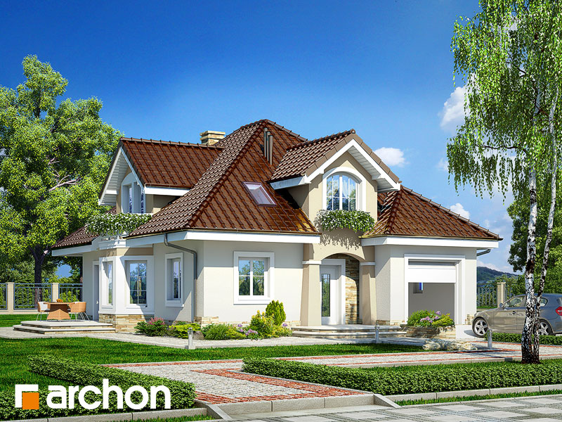 Проект будинку ARCHON+ Будинок в зірках Вид 1