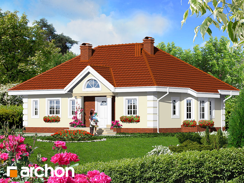 Проект будинку ARCHON+ Будинок в оливках Вид 1