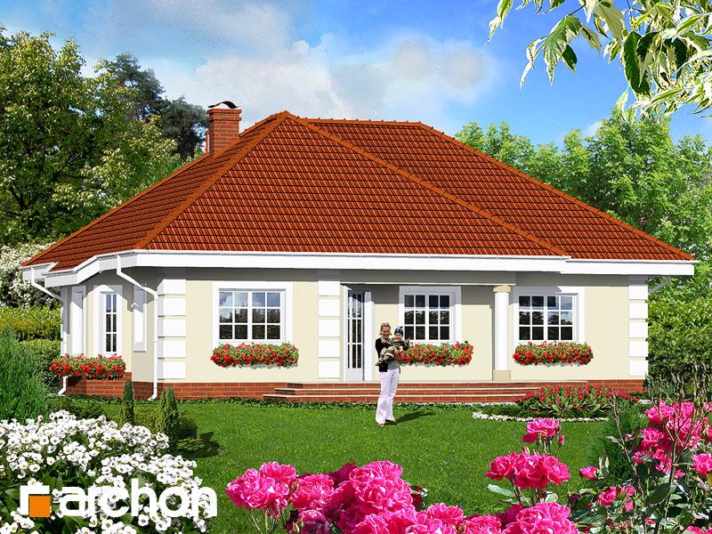 Проект будинку ARCHON+ Будинок в оливках Вид 2