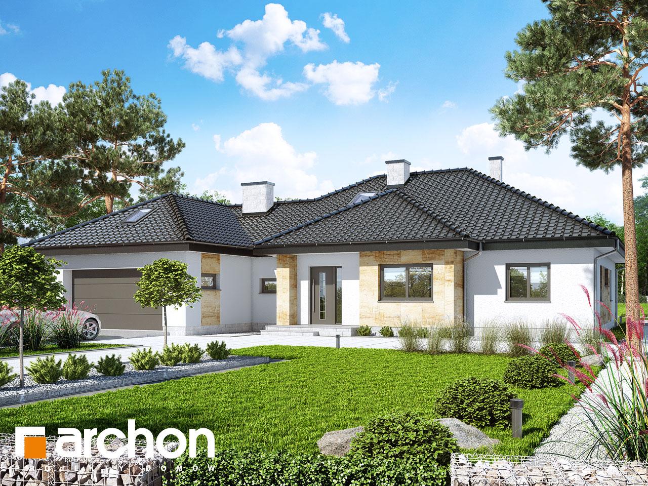 Проект дома ARCHON+ Дом в акебиях 5 Вид 2