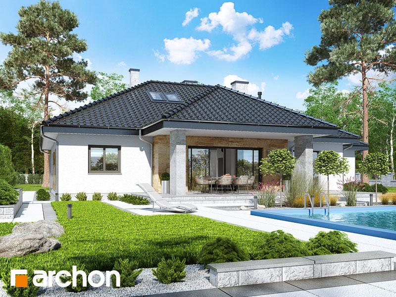 Проект дома ARCHON+ Дом в акебиях 5 Вид 1