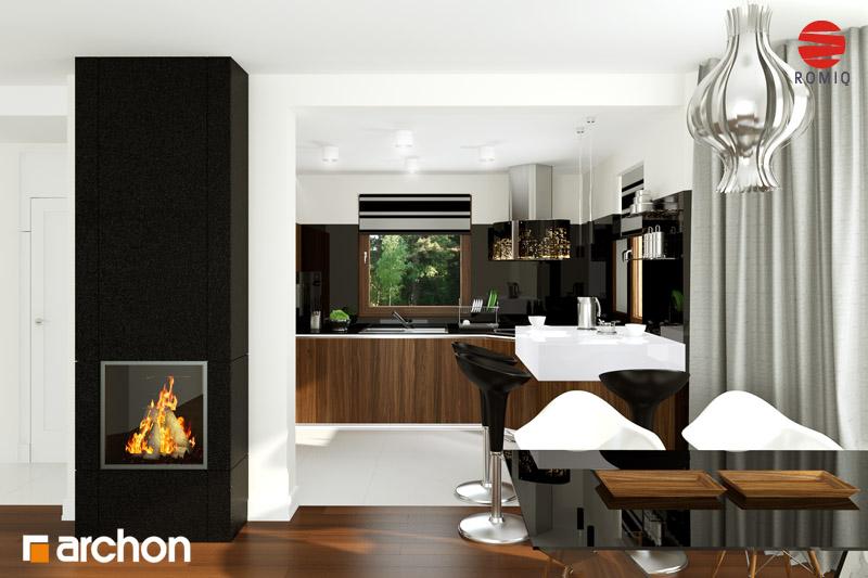 Проект будинку ARCHON+ Будинок в рододендронах 6 аранжування кухні 2 від 1