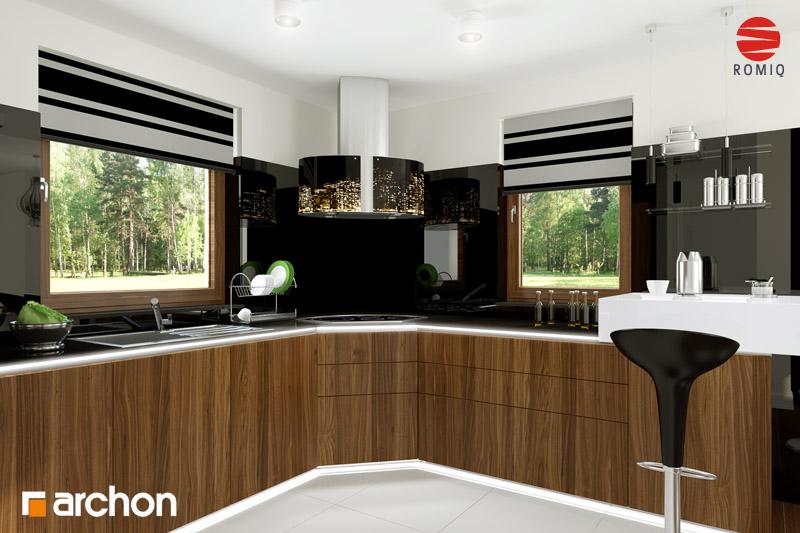Проект будинку ARCHON+ Будинок в рододендронах 6 аранжування кухні 2 від 3