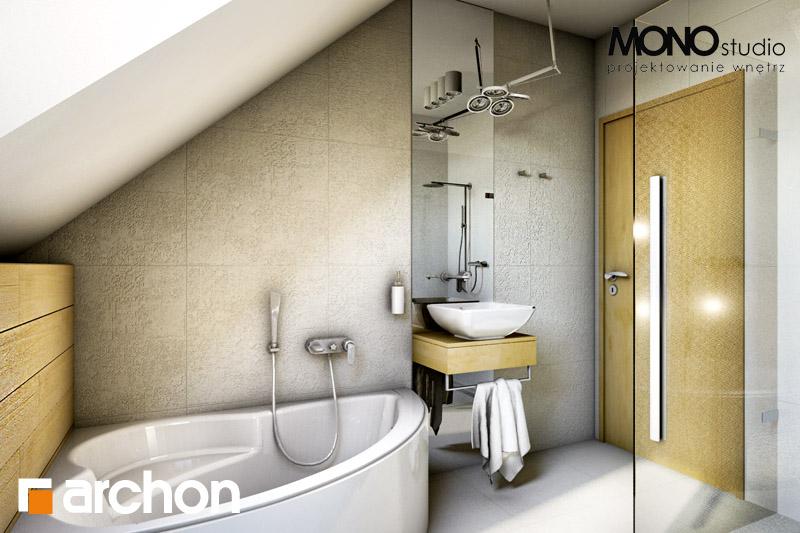Проект будинку ARCHON+ Будинок в рододендронах 6 візуалізація ванни (візуалізація 1 від 1)