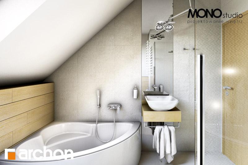 Проект будинку ARCHON+ Будинок в рододендронах 6 візуалізація ванни (візуалізація 1 від 3)