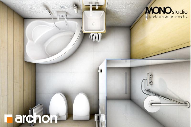 Проект будинку ARCHON+ Будинок в рододендронах 6 візуалізація ванни (візуалізація 1 від 6)