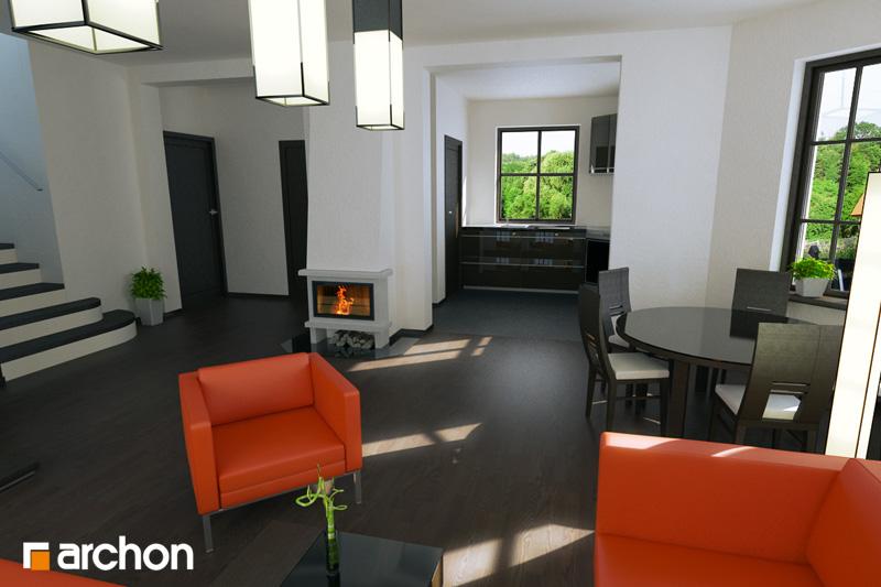 Проект будинку ARCHON+ Будинок в рододендронах 6 денна зона (візуалізація 3 від 2)