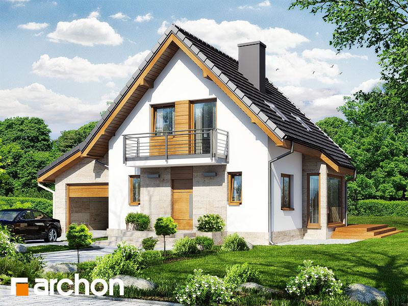 Проект будинку ARCHON+ Будинок у винограді (Г) стилізація 3
