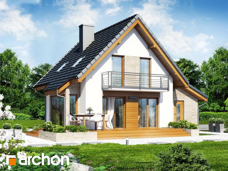 Проект дома ARCHON+ Дом в винограде (Г) стилизация 4