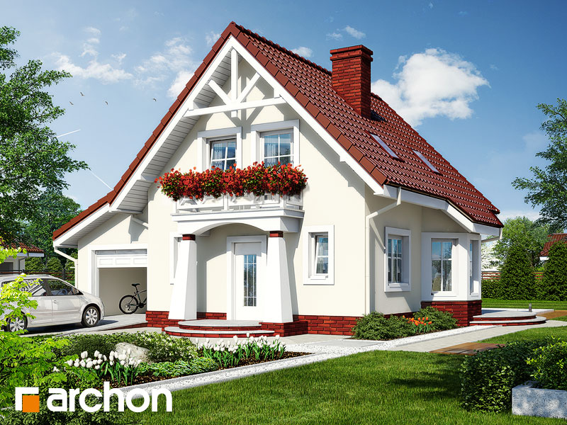 Проект дома ARCHON+ Дом в винограде (Г) Вид 1