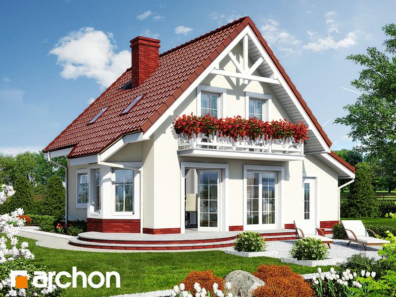 Проект дома ARCHON+ Дом в винограде (Г) Вид 2
