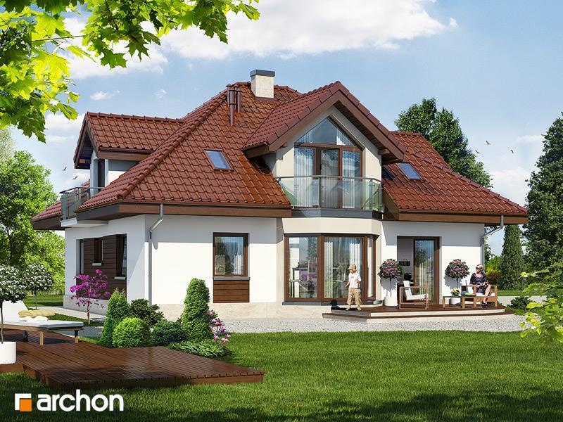 Проект дома ARCHON+ Дом в дуброве (Г2) стилизация 4