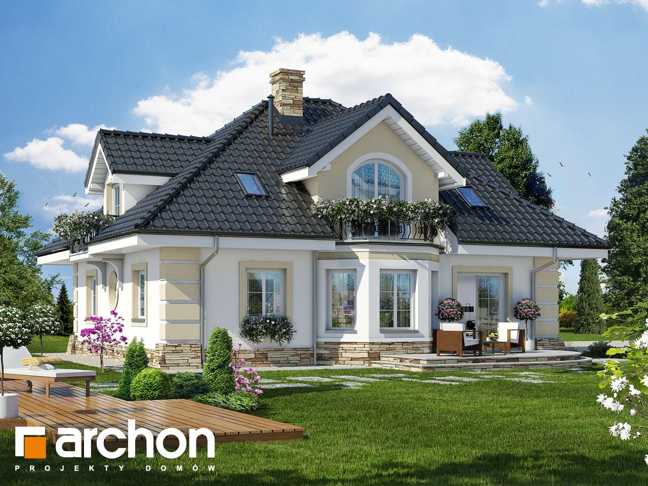 Проект дома ARCHON+ Дом в дуброве (Г2) Вид 2