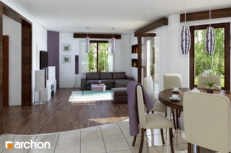Проект дома ARCHON+ Дом в дуброве (Г2) дневная зона (визуализация 1 вид 1)