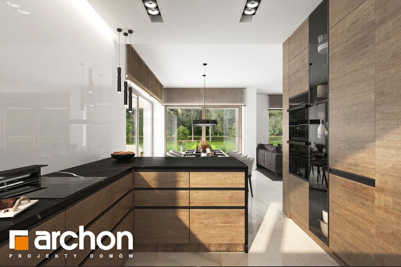 Проект будинку ARCHON+ Вілла Міранда 9 (Г2) візуалізація кухні 1 від 2