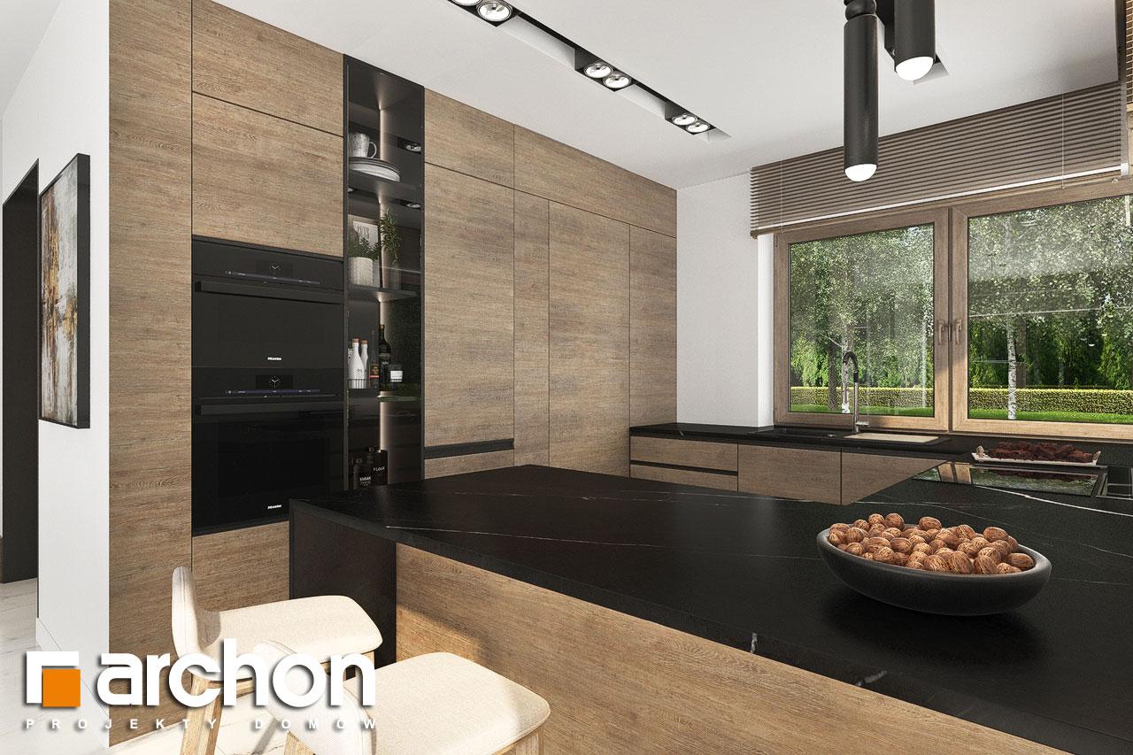 Проект будинку ARCHON+ Вілла Міранда 9 (Г2) візуалізація кухні 1 від 3