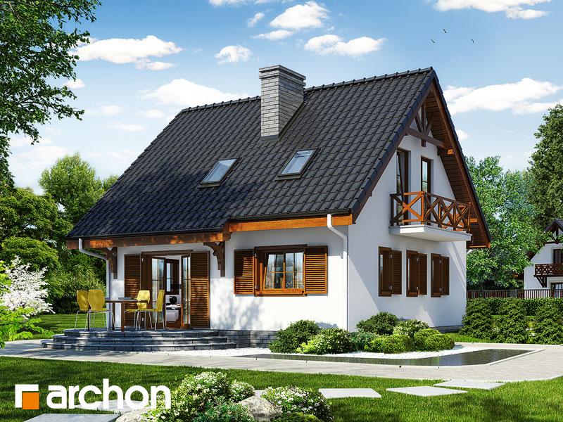 Проект будинку ARCHON+ Будинок в суниці 3 (П) Вид 2