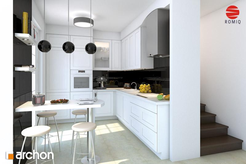 Проект дома ARCHON+ Дом под белой акацией аранжировка кухни 1 вид 1