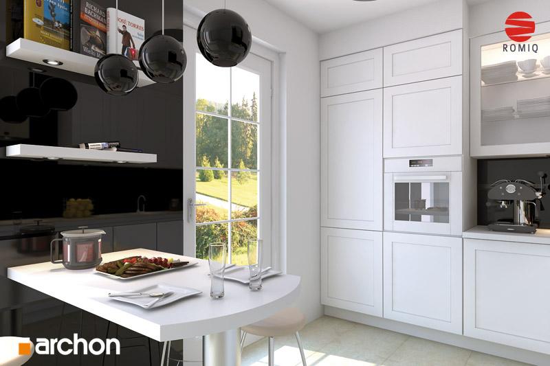 Проект дома ARCHON+ Дом под белой акацией аранжировка кухни 1 вид 2