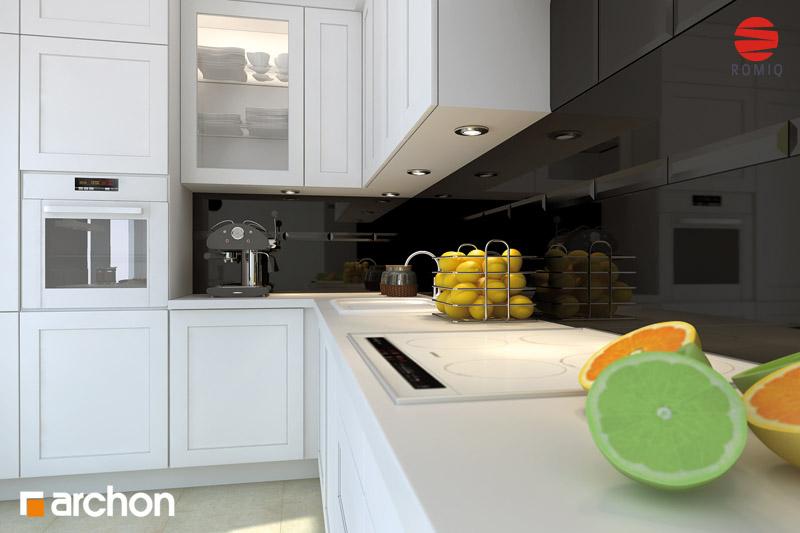 Проект дома ARCHON+ Дом под белой акацией аранжировка кухни 1 вид 3