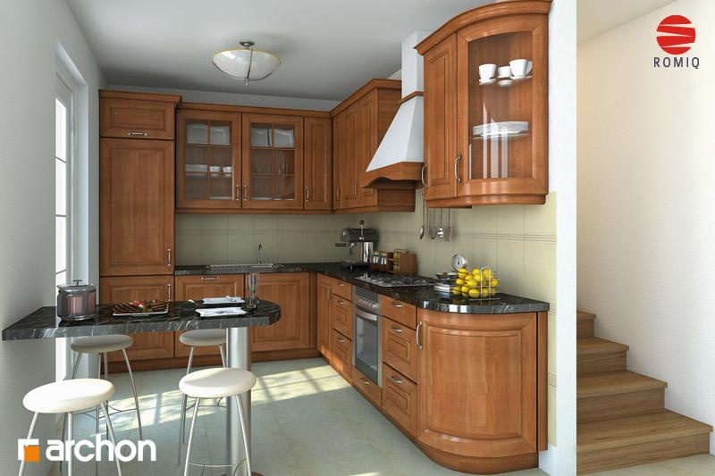Проект дома ARCHON+ Дом под белой акацией аранжировка кухни 2 вид 1