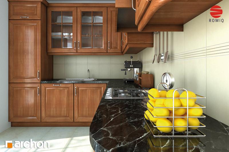 Проект дома ARCHON+ Дом под белой акацией аранжировка кухни 2 вид 2