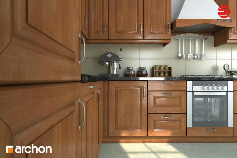 Проект дома ARCHON+ Дом под белой акацией аранжировка кухни 2 вид 3