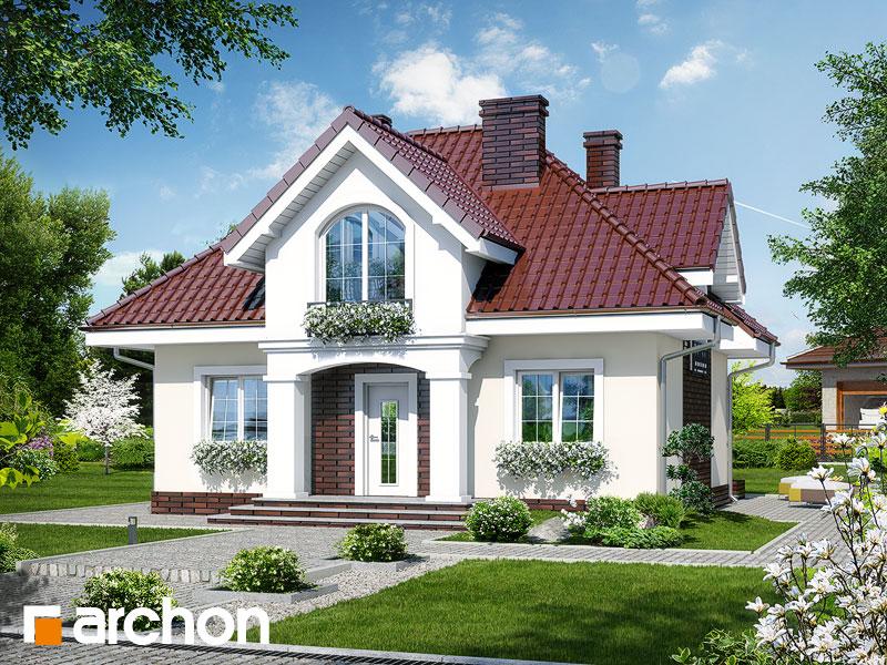 Проект дома ARCHON+ Дом под белой акацией Вид 1