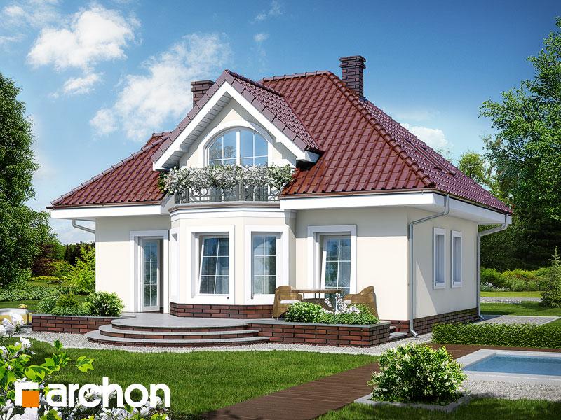 Проект дома ARCHON+ Дом под белой акацией Вид 2