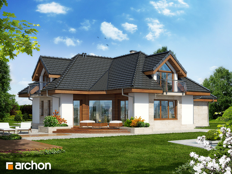 Проект будинку ARCHON+ Будинок в алое 3 стилізація 4