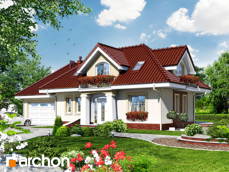 Проект будинку ARCHON+ Будинок в алое 3 Вид 1