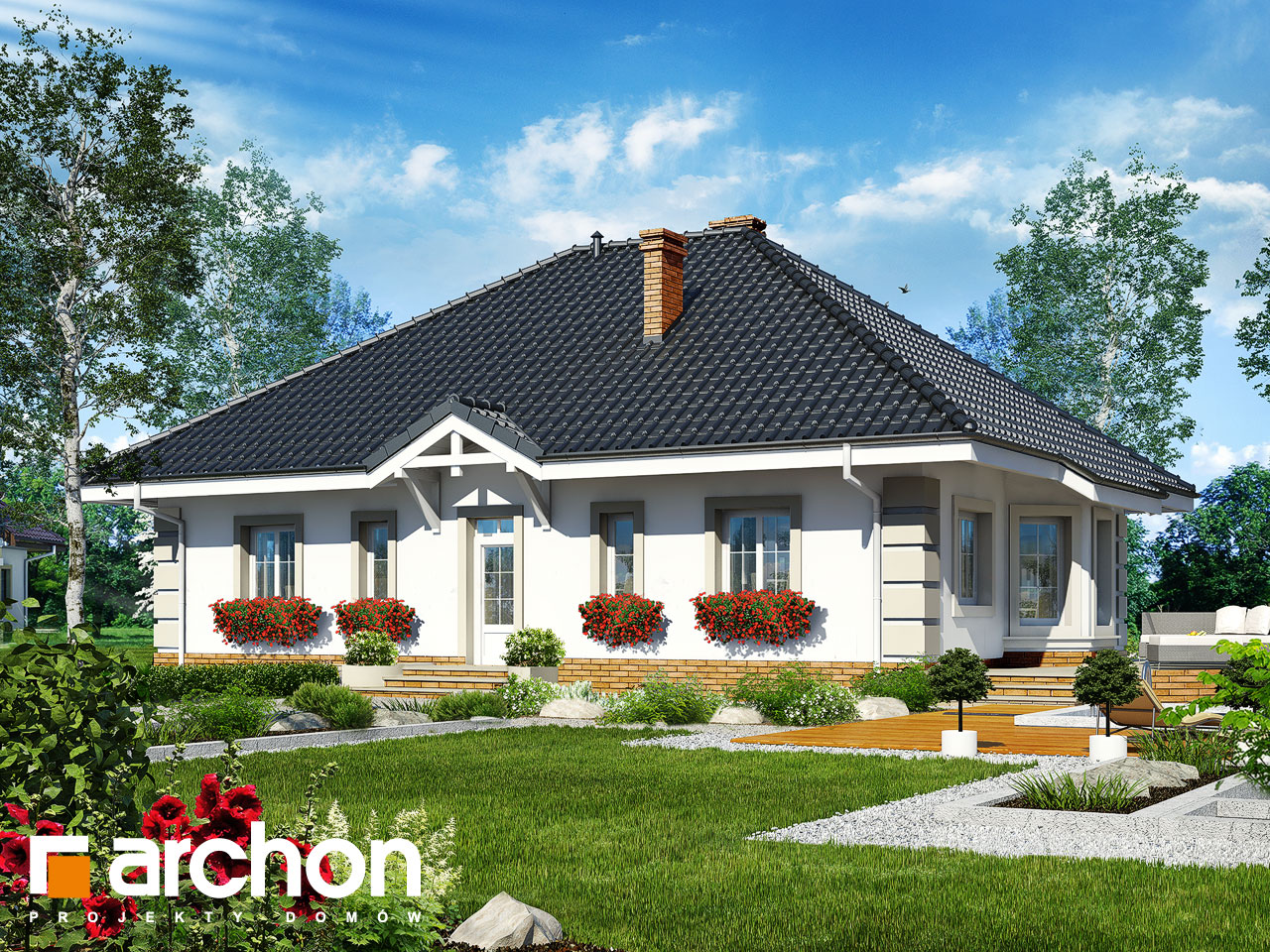 Проект будинку ARCHON+ Будинок під червоною горобиною 4 Вид 2