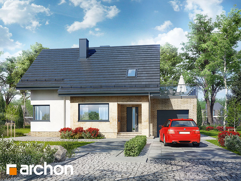 Проект будинку ARCHON+ Будинок в аріземах стилізація 3